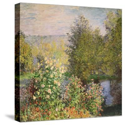 A Corner of the Garden at Montgeron, 1876-7-Claude Monet-Stretched Canvas Print