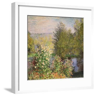 A Corner of the Garden at Montgeron, 1876-7-Claude Monet-Framed Premium Giclee Print