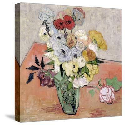 Roses and Anemones, c.1890-Vincent van Gogh-Stretched Canvas Print