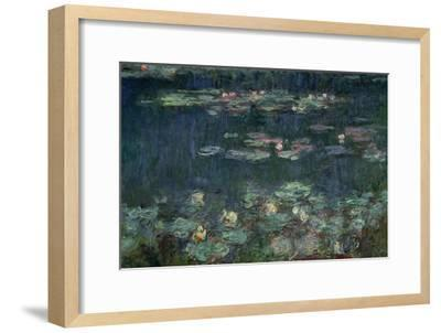 Waterlilies: Green Reflections, 1914-18 (Right Section)-Claude Monet-Framed Giclee Print