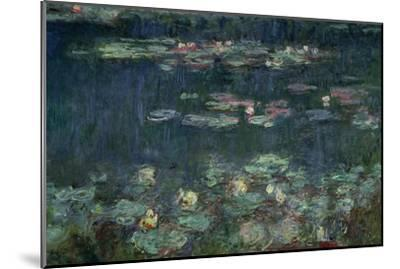 Waterlilies: Green Reflections, 1914-18 (Right Section)-Claude Monet-Mounted Giclee Print