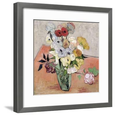 Roses and Anemones, c.1890-Vincent van Gogh-Framed Giclee Print