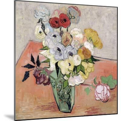 Roses and Anemones, c.1890-Vincent van Gogh-Mounted Giclee Print