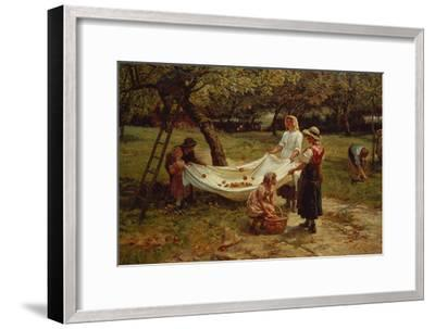 The Apple Gatherers, 1880-Frederick Morgan-Framed Giclee Print