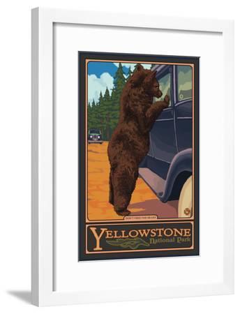 Don't Feed the Bears, Yellowstone National Park, Wyoming-Lantern Press-Framed Premium Giclee Print