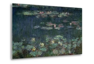 Waterlilies: Green Reflections, 1914-18 (Right Section)-Claude Monet-Metal Print