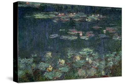 Waterlilies: Green Reflections, 1914-18 (Right Section)-Claude Monet-Stretched Canvas Print