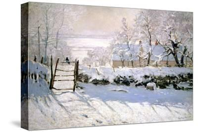 The Magpie, 1869-Claude Monet-Stretched Canvas Print