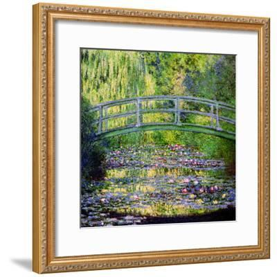 The Waterlily Pond with the Japanese Bridge, 1899-Claude Monet-Framed Giclee Print