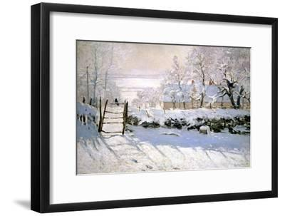 The Magpie, 1869-Claude Monet-Framed Giclee Print