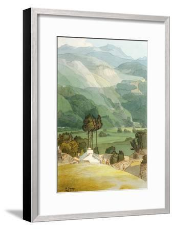 Ambleside, 1786 (W/C with Pen and Ink over Graphite on Laid Paper)-Francis Towne-Framed Premium Giclee Print
