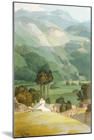 Ambleside, 1786 (W/C with Pen and Ink over Graphite on Laid Paper)-Francis Towne-Mounted Premium Giclee Print