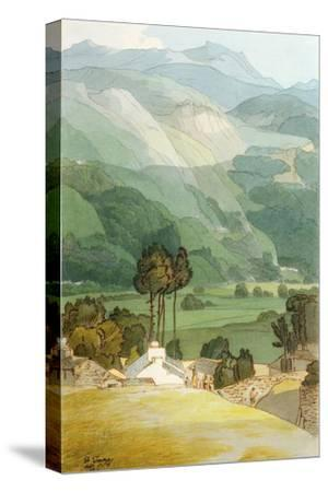 Ambleside, 1786 (W/C with Pen and Ink over Graphite on Laid Paper)-Francis Towne-Stretched Canvas Print