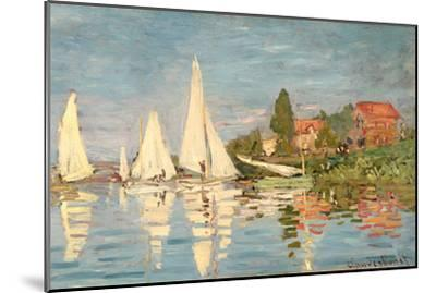 Regatta at Argenteuil, C.1872-Claude Monet-Mounted Giclee Print