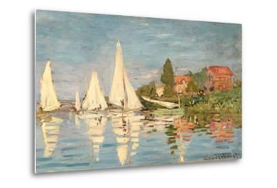 Regatta at Argenteuil, C.1872-Claude Monet-Metal Print