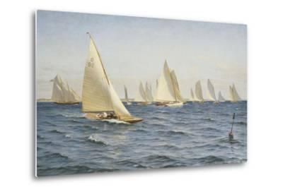 The Race-Axel Johansen-Metal Print