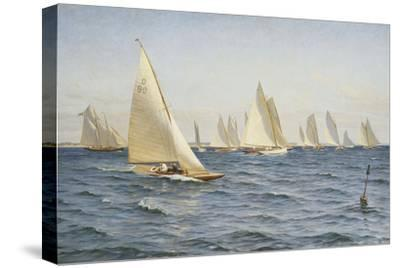 The Race-Axel		 Johansen-Stretched Canvas Print