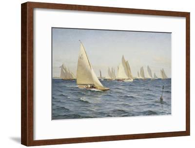 The Race-Axel Johansen-Framed Premium Giclee Print