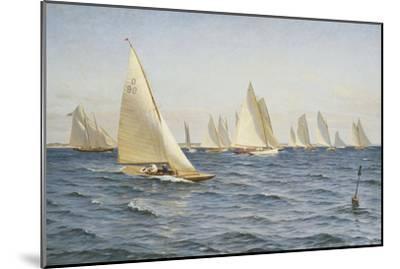 The Race-Axel Johansen-Mounted Premium Giclee Print