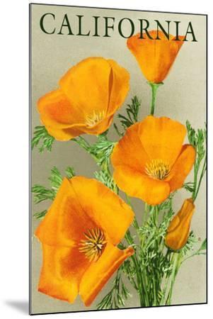 California - Poppies-Lantern Press-Mounted Art Print