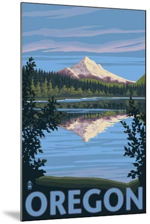 Mt. Hood from Lost Lake, Oregon-Lantern Press-Mounted Art Print