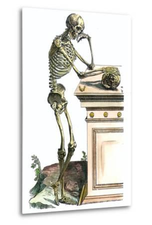 Vesalius: Skeleton, 1543-Andreas Vesalius-Metal Print