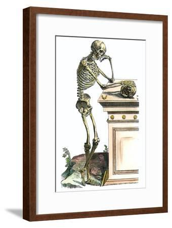 Vesalius: Skeleton, 1543-Andreas Vesalius-Framed Giclee Print