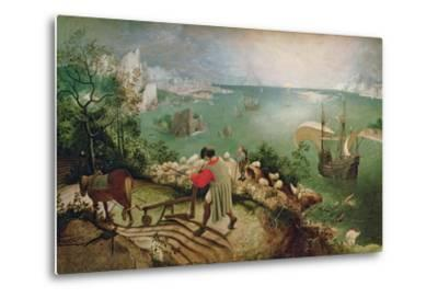 Landscape with the Fall of Icarus, circa 1555-Pieter Bruegel the Elder-Metal Print