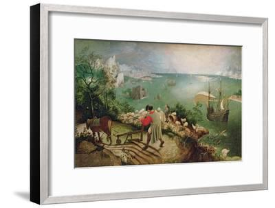 Landscape with the Fall of Icarus, circa 1555-Pieter Bruegel the Elder-Framed Giclee Print