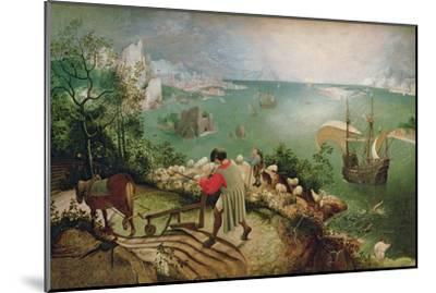 Landscape with the Fall of Icarus, circa 1555-Pieter Bruegel the Elder-Mounted Giclee Print