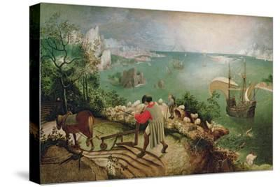 Landscape with the Fall of Icarus, circa 1555-Pieter Bruegel the Elder-Stretched Canvas Print