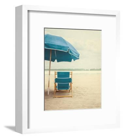 Under the Umbrella II - Bright Turquoise-Elizabeth Urquhart-Framed Art Print
