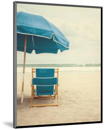 Under the Umbrella II - Bright Turquoise-Elizabeth Urquhart-Mounted Art Print