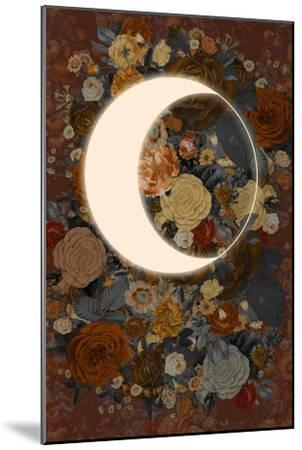 Dark Floral Lunar Eclipse--Mounted Art Print