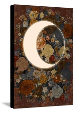 Dark Floral Lunar Eclipse--Stretched Canvas Print
