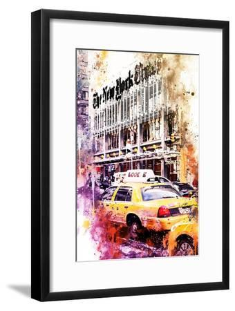 NYC Watercolor Collection - Look-Philippe Hugonnard-Framed Art Print