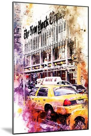 NYC Watercolor Collection - Look-Philippe Hugonnard-Mounted Art Print