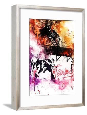 NYC Watercolor Collection - Colors Mind-Philippe Hugonnard-Framed Art Print