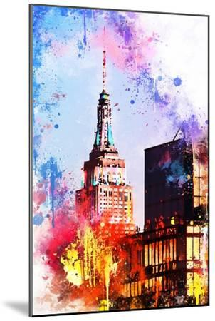 NYC Watercolor Collection - At the Top of the Empire-Philippe Hugonnard-Mounted Art Print