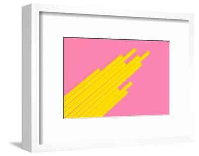Pop Straws Collection - Light Pink & Yellow-Philippe Hugonnard-Framed Photographic Print