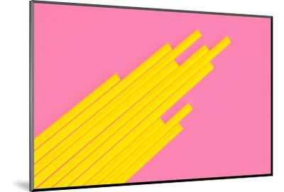 Pop Straws Collection - Light Pink & Yellow-Philippe Hugonnard-Mounted Photographic Print
