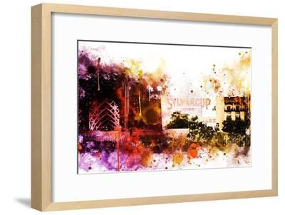 NYC Watercolor Collection - Silvercup Studios-Philippe Hugonnard-Framed Art Print