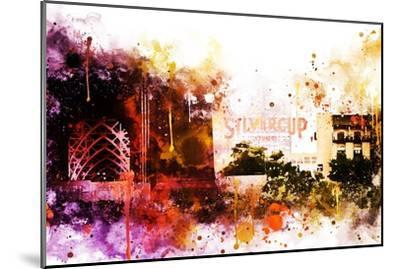 NYC Watercolor Collection - Silvercup Studios-Philippe Hugonnard-Mounted Art Print