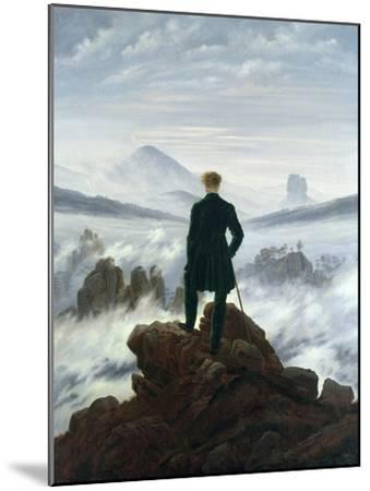 The Wanderer Above the Sea of Fog, 1818-Caspar David Friedrich-Mounted Giclee Print