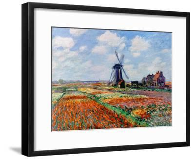 Monet: Tulip Fields, 1886-Claude Monet-Framed Giclee Print