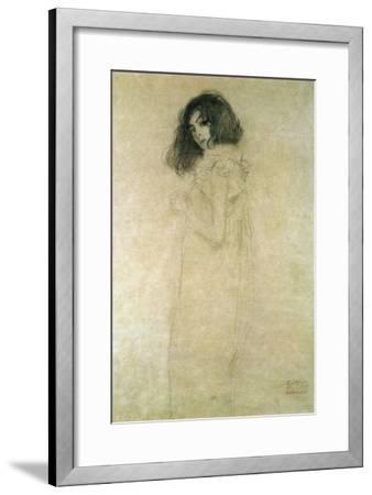 Portrait of a Young Woman, 1896-97-Gustav Klimt-Framed Giclee Print