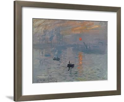 Impression: Sunrise, 1872-Claude Monet-Framed Giclee Print