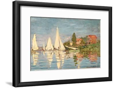Regatta at Argenteuil, C.1872-Claude Monet-Framed Giclee Print