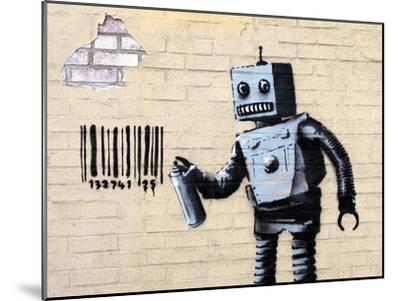 Robot-Banksy-Mounted Giclee Print