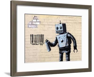 Robot-Banksy-Framed Giclee Print